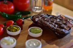 Stek wołowiny mięsny Turecki wodowanie Zdjęcia Royalty Free