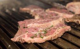 Stek wołowiny mięso Fotografia Stock
