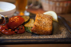 Stek z pomidorem i kumberlandem Fotografia Stock