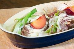 Stek z roquefort i śliwkami Fotografia Royalty Free