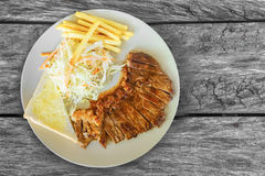 Stek z sałatką Fotografia Stock