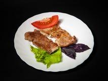 Stek z ziele i warzywami Obraz Royalty Free