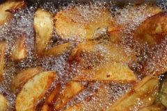 Steka för potatiskilar Arkivfoto