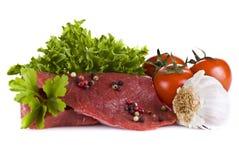steka steakgrönsaker för nötkött Fotografering för Bildbyråer