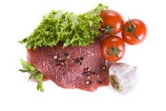 steka steakgrönsaker för nötkött royaltyfri foto