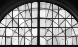 Stekelig venster Royalty-vrije Stock Fotografie