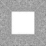 Stekelige, amorfe uiterst kleine vormen die uit 3D vervormd, verminderend kaderontwerp bestaan Stock Fotografie