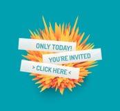Stekelige bal voor ontwerpproject Het malplaatje van de zakelijke gebeurtenisuitnodiging Kan voor online cursussen, hoofdklasse,  royalty-vrije illustratie