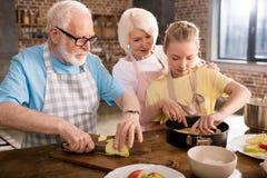 Stekhet äppelpaj för familj fotografering för bildbyråer