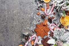 Stekhet bakgrund för ferie Julmat royaltyfri foto