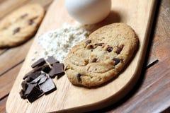 stekhet chipchokladkaka Royaltyfri Fotografi