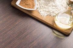 Stekhet ingrediensbakgrund Arkivbild