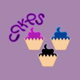 Stekhet logo Kaka Logo Template Design Vector Royaltyfri Bild