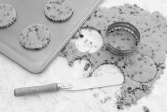stekheta ägg för kakor för choklad för chiper för bunkesmörchip pudrar blandning Royaltyfria Foton