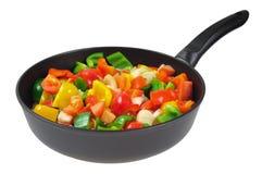 stekheta grönsaker för panna Royaltyfri Fotografi