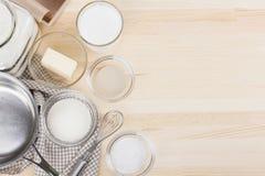stekheta ingredienser Arkivfoto