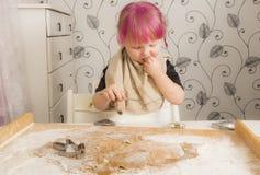 Stekheta julkakor för flicka Arkivfoto