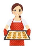 Stekheta kakor för kvinna stock illustrationer