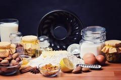 stekheta normala ingredienser Royaltyfri Foto
