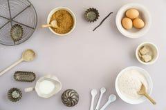 stekheta normala ingredienser Royaltyfri Fotografi