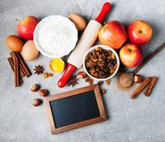 stekheta nya ingredienser Arkivbild