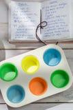 Stekheta söta muffin med blåbär Royaltyfri Fotografi