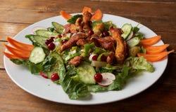 Stekkött med nya grönsaker Royaltyfri Fotografi