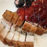 Stekköttuppläggningsfat Arkivfoto