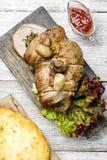 Steknötkött för matställe Royaltyfri Foto