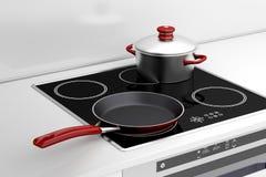Stekpanna och matlagningkruka Royaltyfri Fotografi