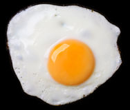 stekt ägg Royaltyfri Bild