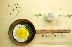Stekt ägg arkivbild