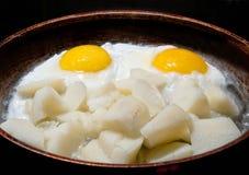 stekt ägg Arkivfoto