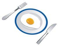 stekt ägg royaltyfri illustrationer