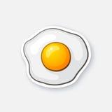 Stekt ägg för klistermärke en Stock Illustrationer
