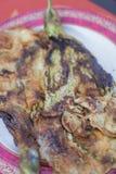 stekt aubergine royaltyfri foto