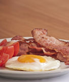 stekt baconägg Royaltyfri Fotografi