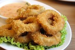 stekt calamari Royaltyfri Fotografi