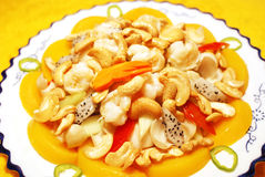 stekt cashewhöna Royaltyfri Fotografi