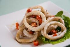 stekt cirkeltioarmad bläckfisk Royaltyfri Bild