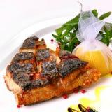 stekt del för fisk Arkivfoto
