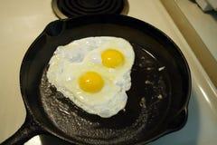 stekt eggs2 arkivbilder
