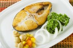 stekt fisk Royaltyfria Foton