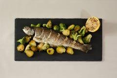 Stekt fisk Royaltyfri Bild