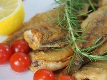 stekt fisk Fotografering för Bildbyråer