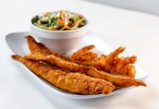 Stekt fisk och räka Royaltyfri Fotografi