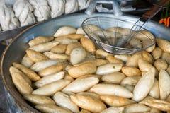 Stekt fiskboll (thailändsk mat) Arkivbilder