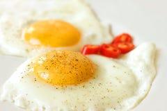 stekt frukostägg Royaltyfri Foto