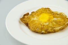 Stekt äggkaka Arkivbild