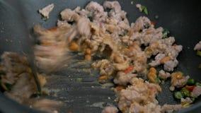 stekt griskött för uppståndelse med ingrediensen arkivfilmer